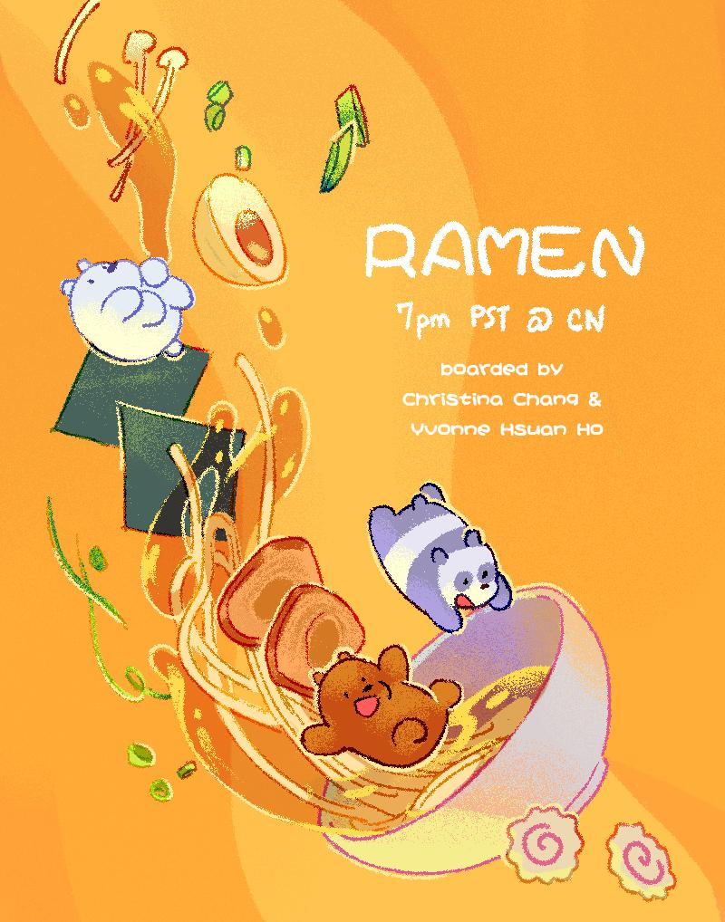 """Tonight at 7pm on CARTOON NETWORK is an all new Bears ep, """"Ramen""""! Boarded by me and the hilarious @yvonnehsuanho ! Check it out!"""