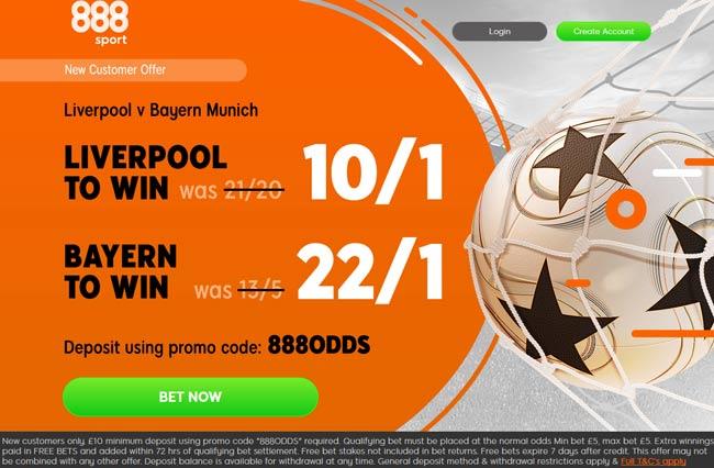 Enhanced Odds at 888sport