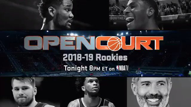Don't miss a special Open Court discussion with this year's biggest rookies!  Tonight at 8pm ET on NBA TV! 📺