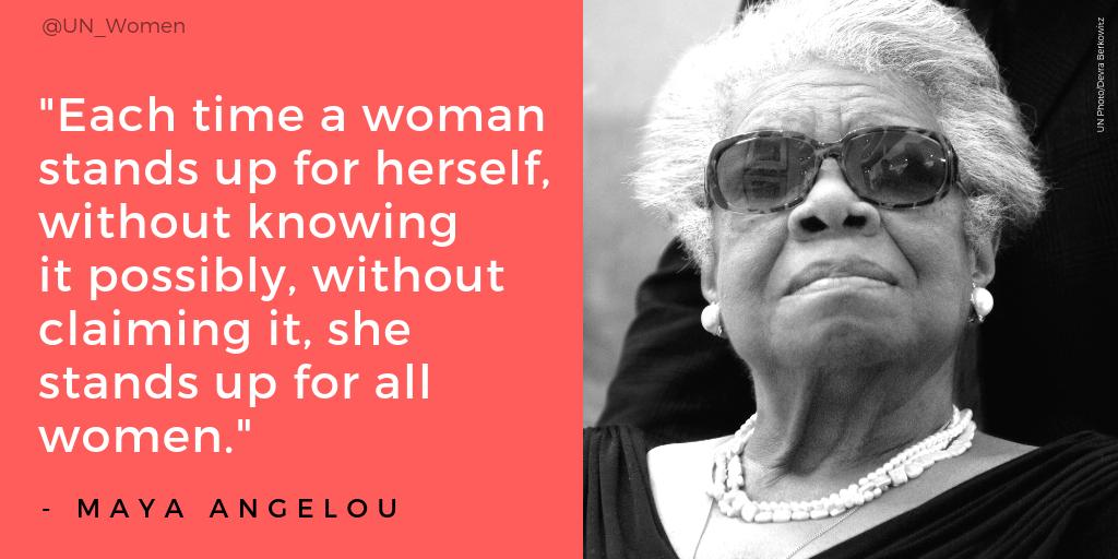 &quot;The span of my hips,  The stride of my step,  The curl of my lips.  I&#39;m a woman Phenomenally.&quot;  #MondayMotivation from Maya Angelou, whose words always inspire us in our fight for equal rights. #BlackHistoryMonth <br>http://pic.twitter.com/q52nMjg1X8
