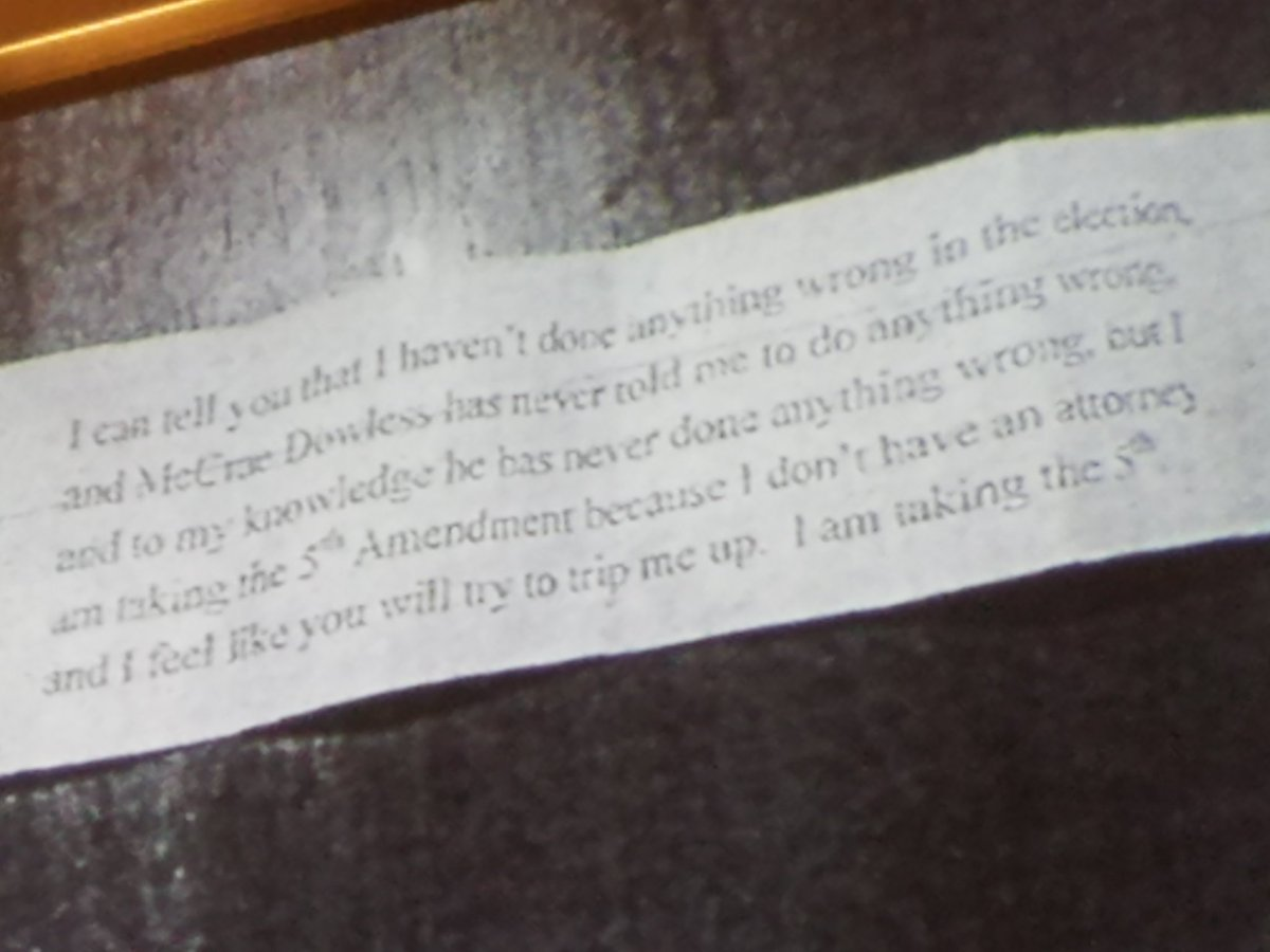 This paper is what Dowless gave them and told them to say, Britt says.