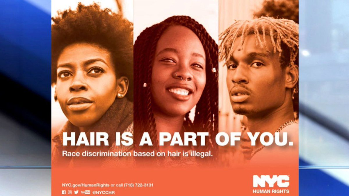 New York City to ban discrimination based on hair https://t.co/UEPjFHfrBf