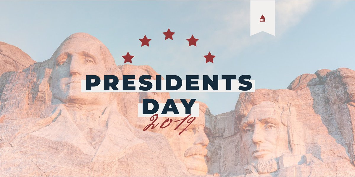Today we celebrate and honor some of the greatest leaders our nation has ever known. Beginning with our first president - and still one of our greatest - George Washington, they have helped change the course of history and America's future. Happy #PresidentsDay