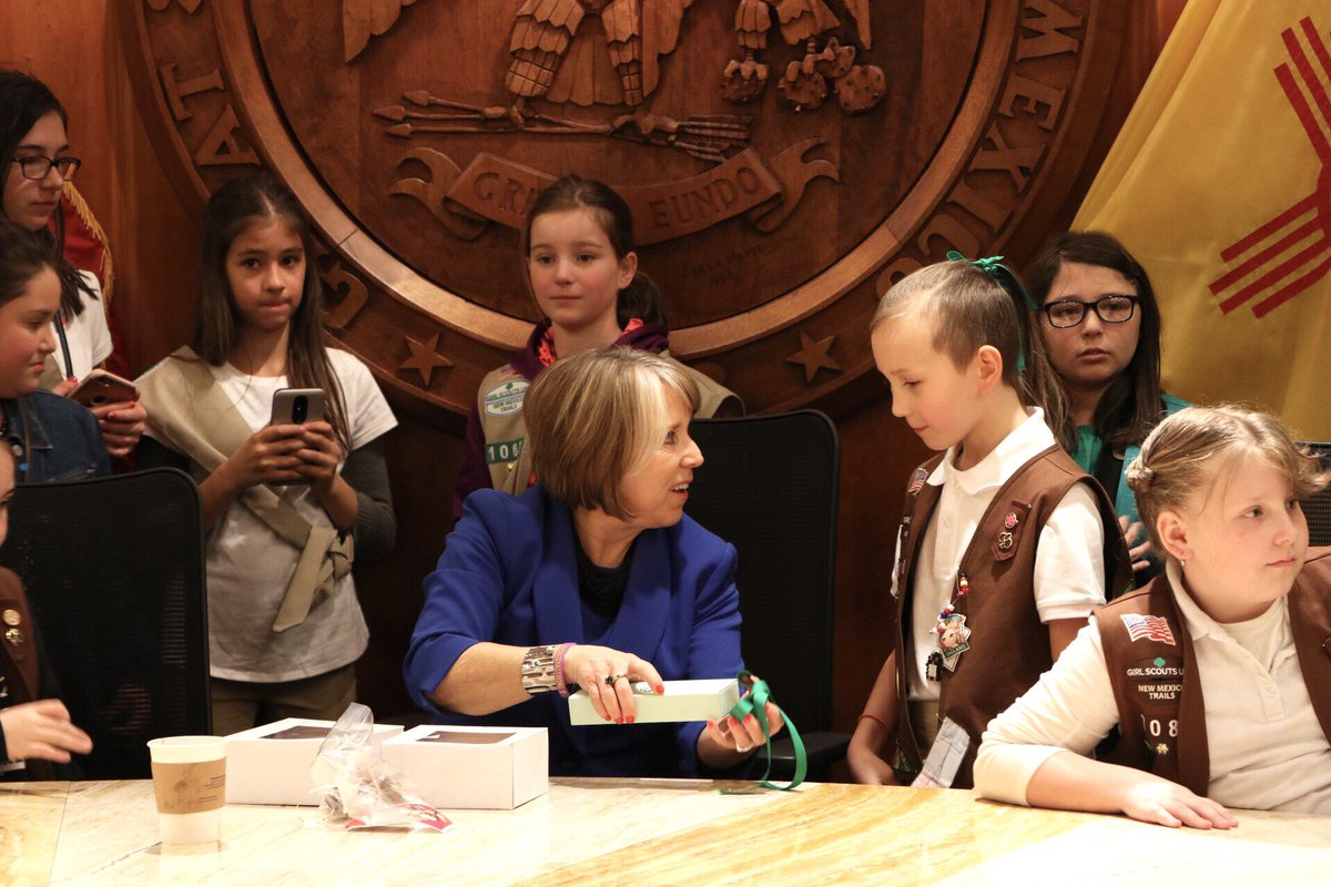 Girl Scout cookies are even better when they're delivered to the Roundhouse by New Mexico @girlscouts!