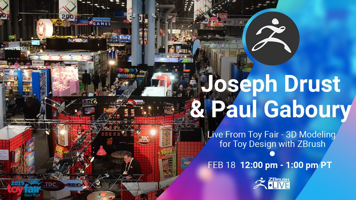 LIVE from Toy Fair 2019 - 3D Modeling for Toy Design with ZBrush