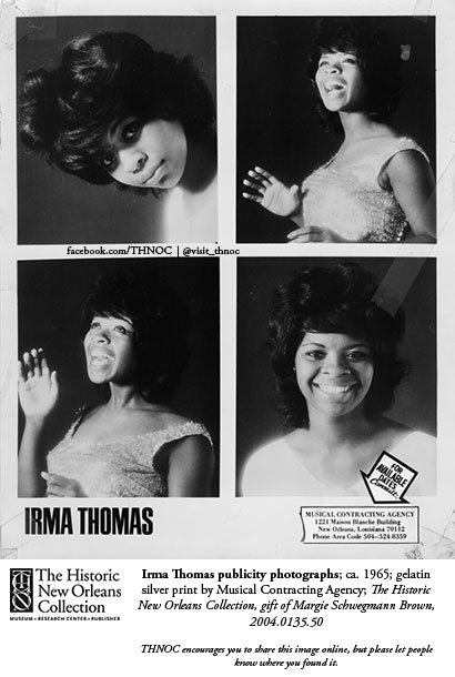 #HappyBirthday, Irma Thomas! These photos of the rhythm & blues singer are in #NewOrleansMedley. Rock 'n roll owes a debt to NOLA musicians, producers, studios & local R&B. Thomas's records for Minit (prod. by Allen Toussaint in the '60s) cemented her as a premier talent.