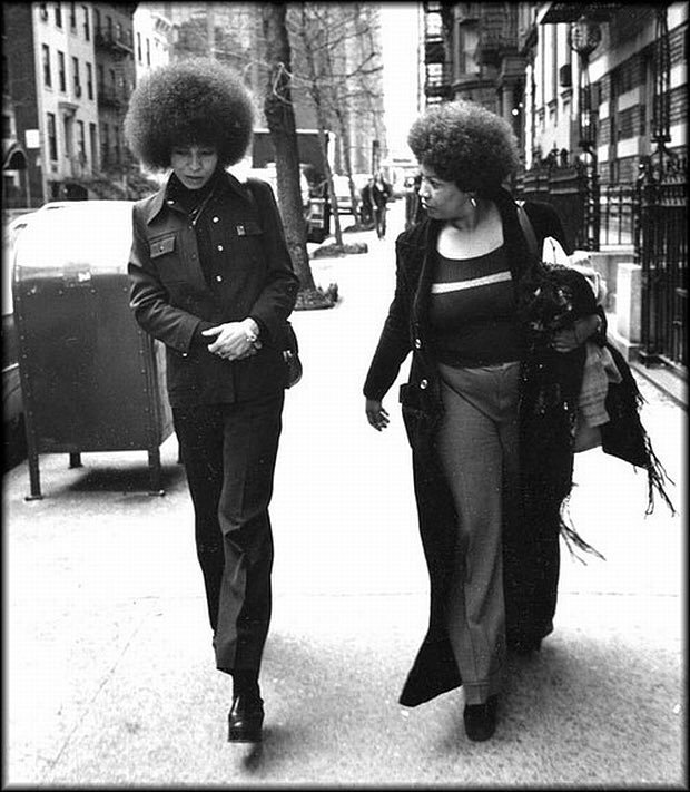 Angela Davis and Toni Morrison in 1974