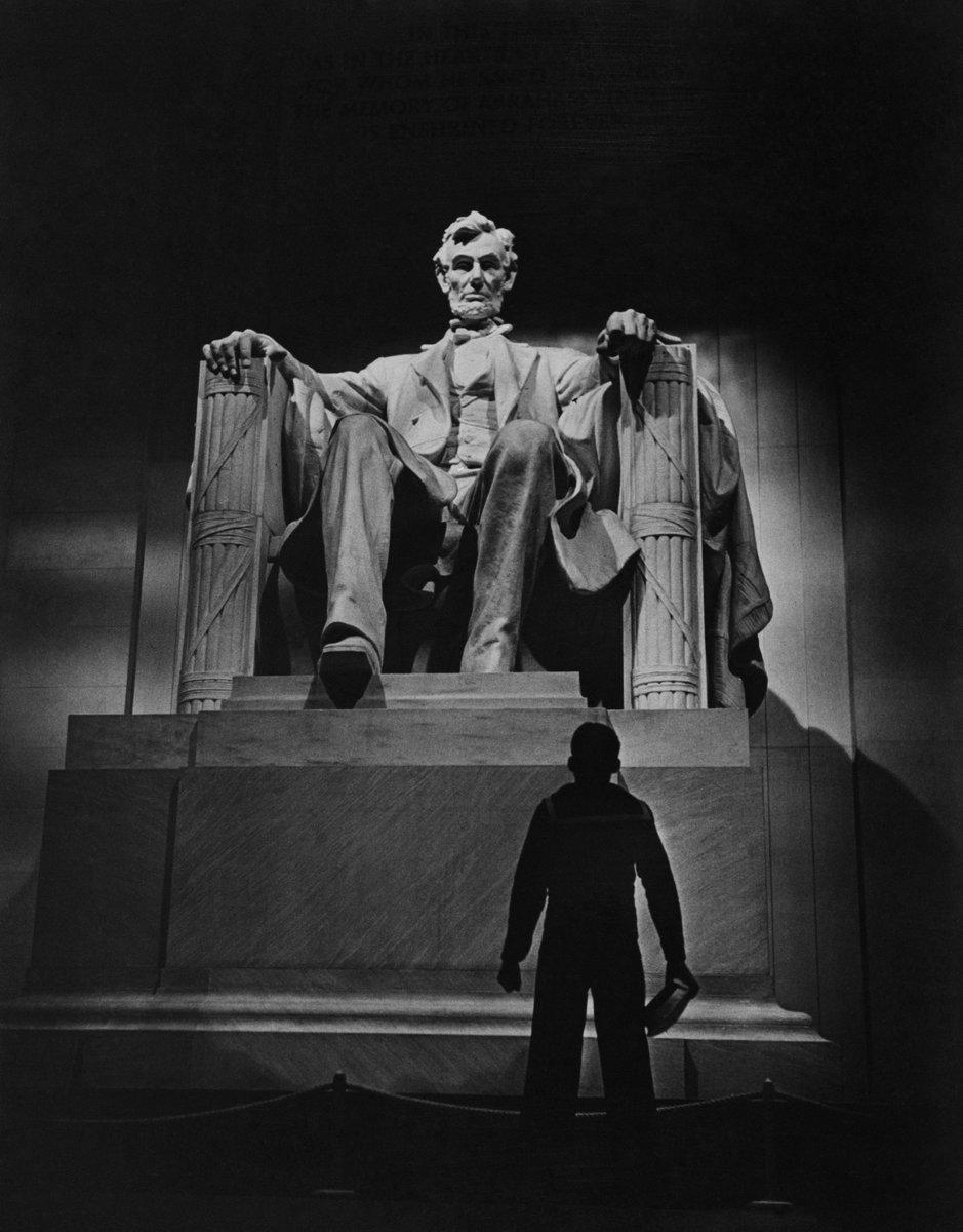 Lincoln Memorial. Washington DC, USA. Circa 1939. #PresidentsDay  W. Eugene Smith © 1965, 2017 The Heirs of W. Eugene Smith / Magnum Photos