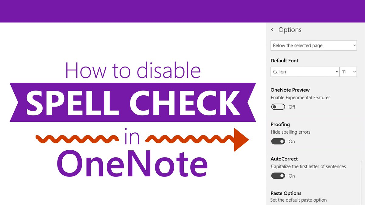 #Edtip: Don't want #OneNote to check your spelling while you type? This guide has step-by-step directions for disabling the feature on OneNote for Windows 10, OneNote 2016, and OneNote Online. 👉 http://msft.social/zUTirn