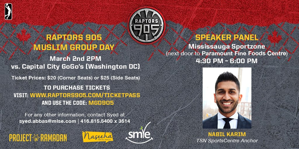 54c873c3208 We're looking forward to the post-game panel with @NabilKarimTSN and many  other amazing Muslims in sports and entertainment. #Raptors905  pic.twitter.com/ ...