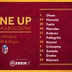 📋 Ecco la nostra formazione per #RomaBologna🧤 Tra i pali torna Robin Olsen 🇸🇪🐺Daje Roma! 🐺