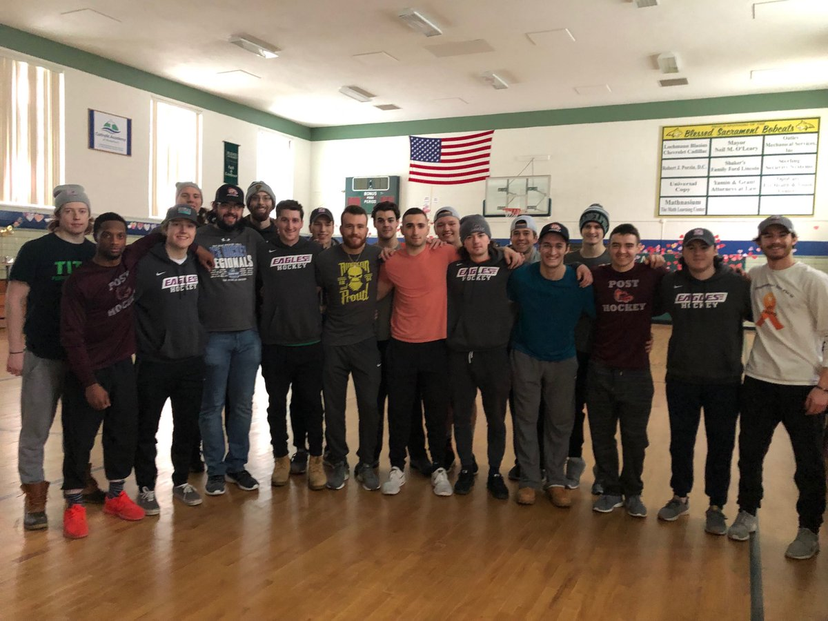 Men's Ice Hockey did some Spring Cleaning today @Catholic Academy in Waterbury #liketocleanup<br>http://pic.twitter.com/G9NhbqBtvq