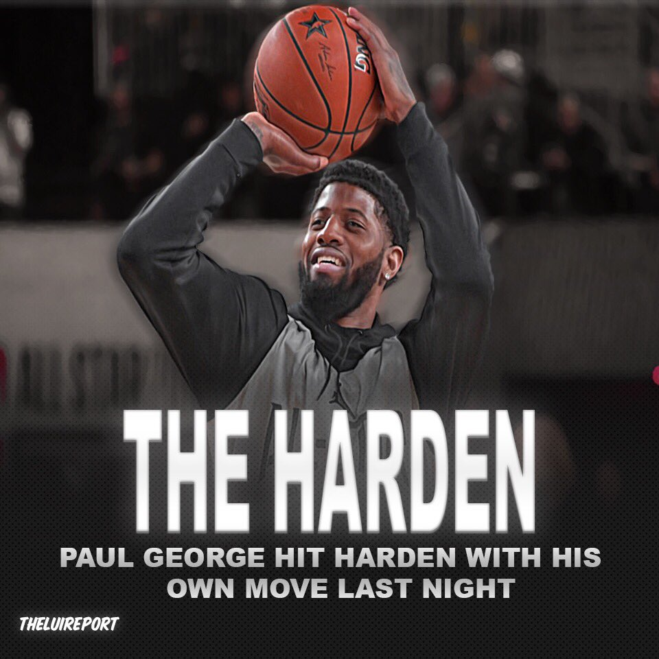 DAILYQ: Do you think some NBA players are getting tired of Harden's move that a lot of people consider traveling? Or are they having some fun joking about it? #nba #jamesharden #paulgeorge #houstonrockets #okc #okcthunder #basketball #allstarweekend #sports