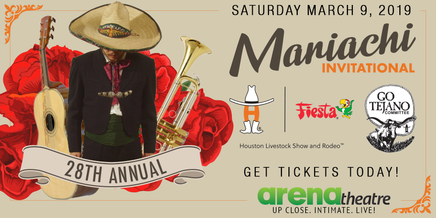 You're invited to the 28th Annual Mariachi Invitational! 🎶🇲🇽 This is an event you cannot miss! Saturday, March 9th. Get your tickets NOW: https://bit.ly/2TUAf51 -- #Mariachi #LiveShow #ArenaTheatre