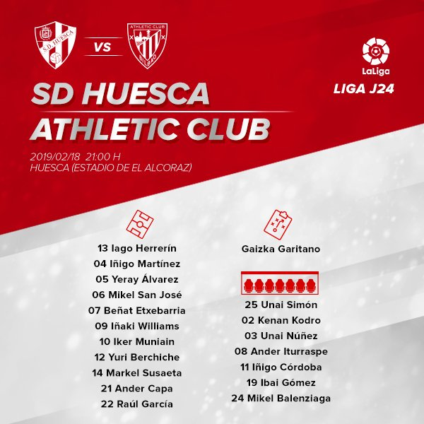 🦁 Athletic Club XI  🔴⚪ #AthleticClub #HuescaAthletic #GoruntzBegira 💪🦁