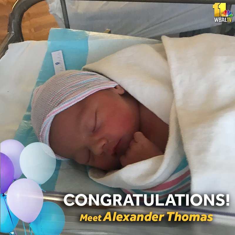 CONGRATULATIONS!!!!!!!  @kimdaceywbal and her husband welcomed Alexander Thomas into the world Friday night. He weighs 7 pounds and is 19 inches long. Everyone is happy and healthy!  Congrats to mom, dad and big sister, Zoe!