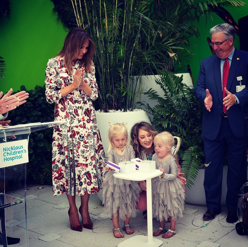 A beautiful ceremony at @Nicklaus4kids hospital today to celebrate their new changes! I hope the garden nurtures & heals all the young patients who visit. Thank you to the generous donors & to @Nicklaus4kids for all the important work you are doing. #BeBest