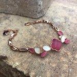 Image for the Tweet beginning: 4-leaf Clover bracelet  Compra