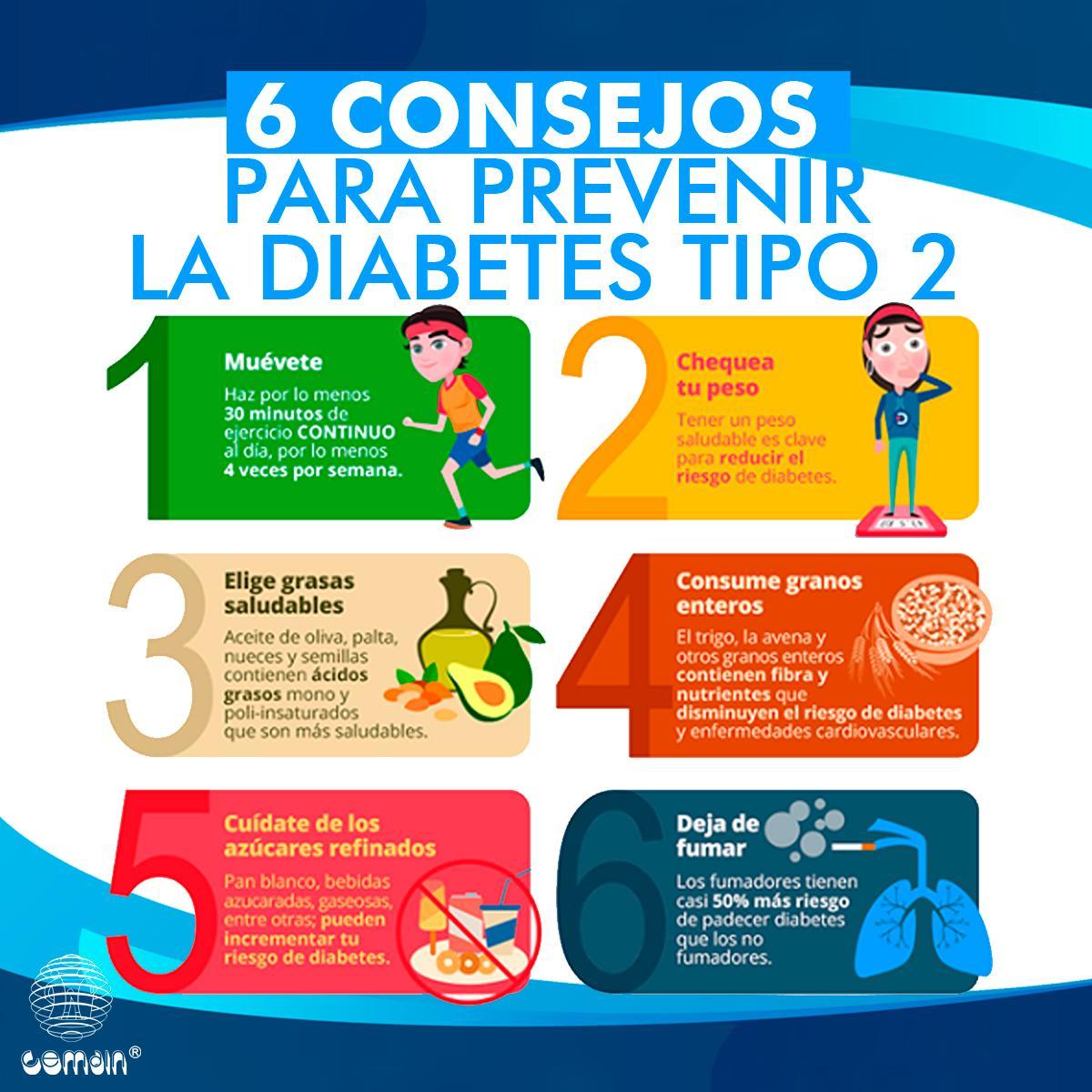 consejos de prevención de diabetes tipo 2