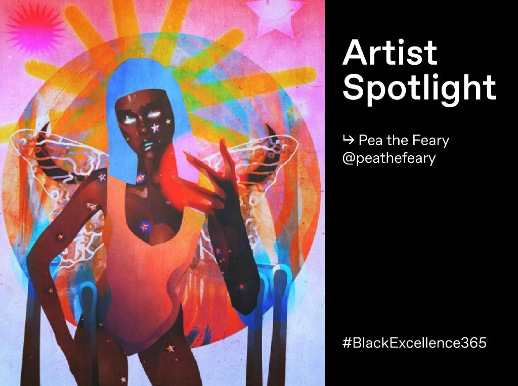 We're boosting Black voices all year long! This week's #BlackExcellence365 Artist Spotlight is Afrofuturist @PThefeary. This one's magic. 🔮  https://t.co/AVEWbo44XU