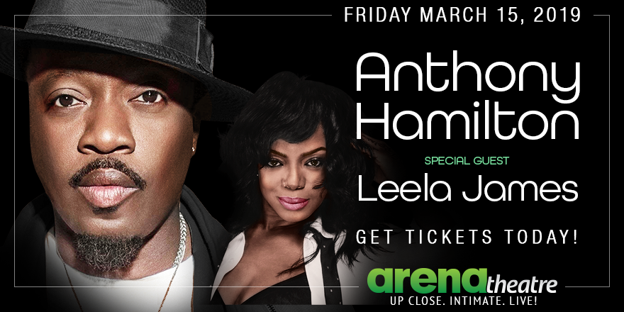 Tickets to see Anthony Hamilton and special guest Leela James at #ArenaTheatre on Friday, March 15th are selling fast! 🔥🔥🔥   Don't miss out on this concert! Tag a friend, and grab yours today!  👉https://bit.ly/2BFdz1m -- #LIVEShow #Houston