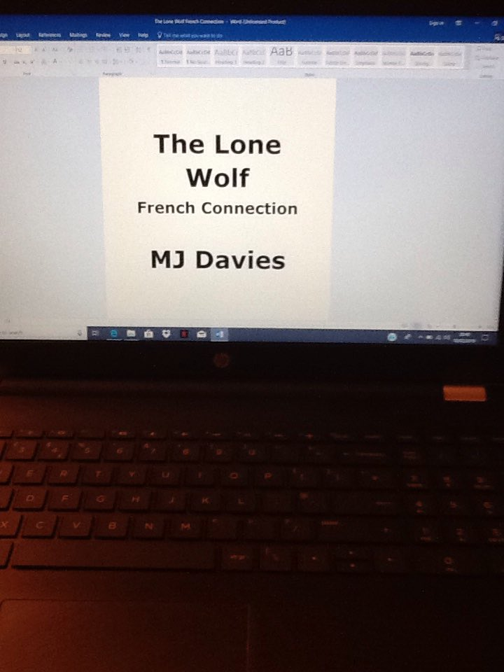 New laptop for the writing of my second book #TheLoneWolf - French Connection. My first #TheLoneWolf already popular on digital formats soon out on paperback so ask for it at your local @Waterstones only £7:99 #BlackOps #SASWhoDaresWins #BritishArmy #Syria #Iraq #Serbia #London