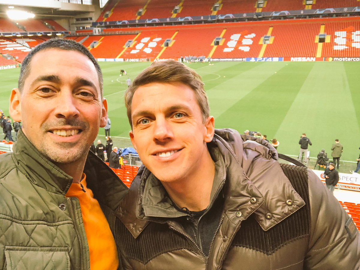 Really enjoyable day filming with @StephenWarnock3 for @DAZN_CA in Liverpool ahead of the big match tomorrow. Chatted with Alan Kennedy, @TheFarm_Peter, and dropped in on Liverpool and Bayern training sessions.  Now, I have a random craving for a kebab. ⚽️💥⚽️