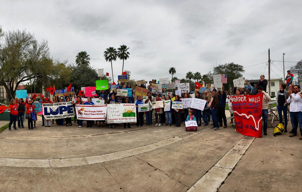 Chicago. Ohio. Newark. Massachusetts. Boise. McAllen, Texas. The White House.  People are gathering across the country this #PresidentsDay to fight the #FakeTrumpEmergency and show solidarity with immigrant communities.  We refuse to tolerate America's slide to authoritarianism.