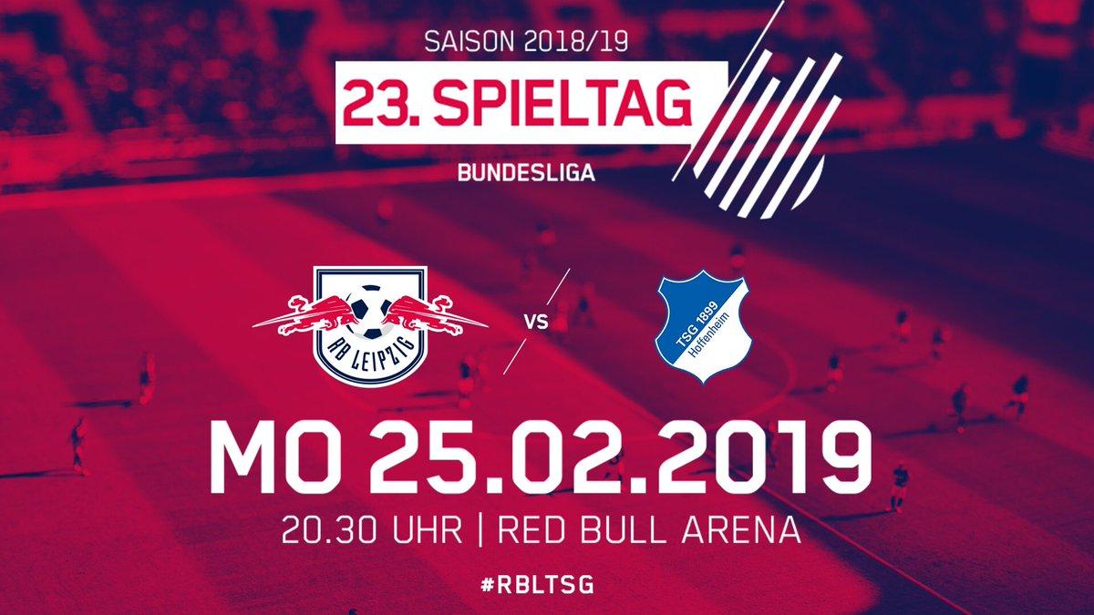 In einer Woche ist endlich wieder HEIMSPIEL 🔴⚪️!  Tickets für das Duell mit der @tsghoffenheim bekommt ihr weiterhin an allen VVK-Stellen 👉 http://bit.ly/TicketsKaufenRBLTSG…  Am Donnerstag startet dann auch der freie VVK für das Heimduell mit @HerthaBSC.  #RedBullArena #Bundesliga
