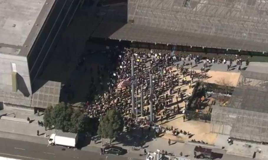 WATCH LIVE ON FB: People all over the country are protesting President Trump's declaration of a national emergency over the border wall. Here's the scene in San Francisco.