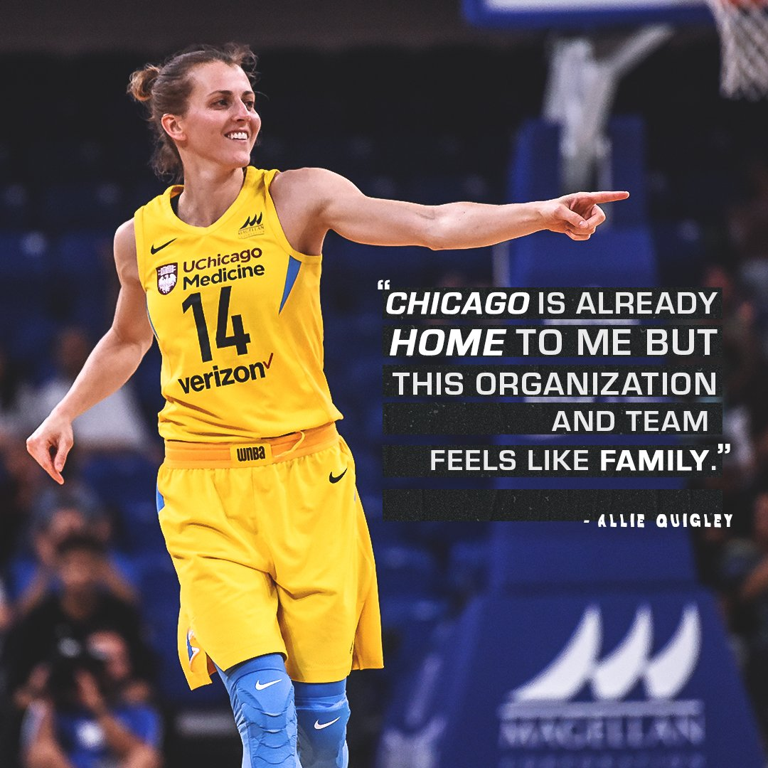 For @alliequigley , Chicago is family. ⛅️
