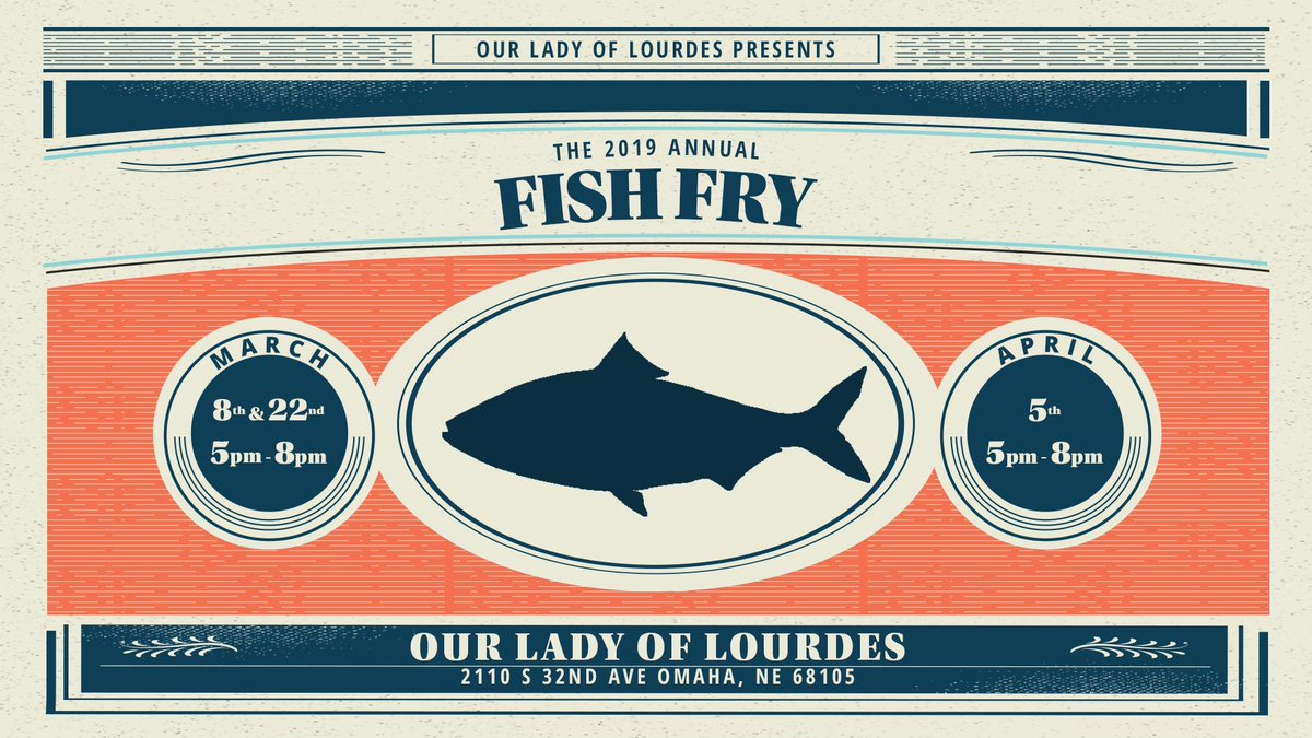 It&#39;s almost that time! Our Lady of Lourdes Annual Fish Fry 2019 is coming up... <br>http://pic.twitter.com/1ZcMIbUQSS