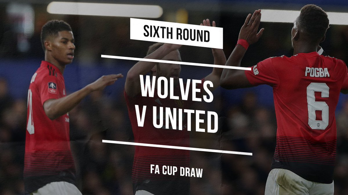 We'll be away to Wolves in the #EmiratesFACup quarter-finals, with the tie to be played between 15-18 March. #MUFC