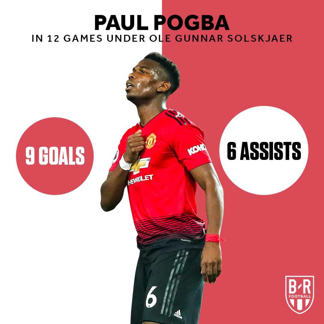 Involved in 15 goals in 12 games under Ole 🔑