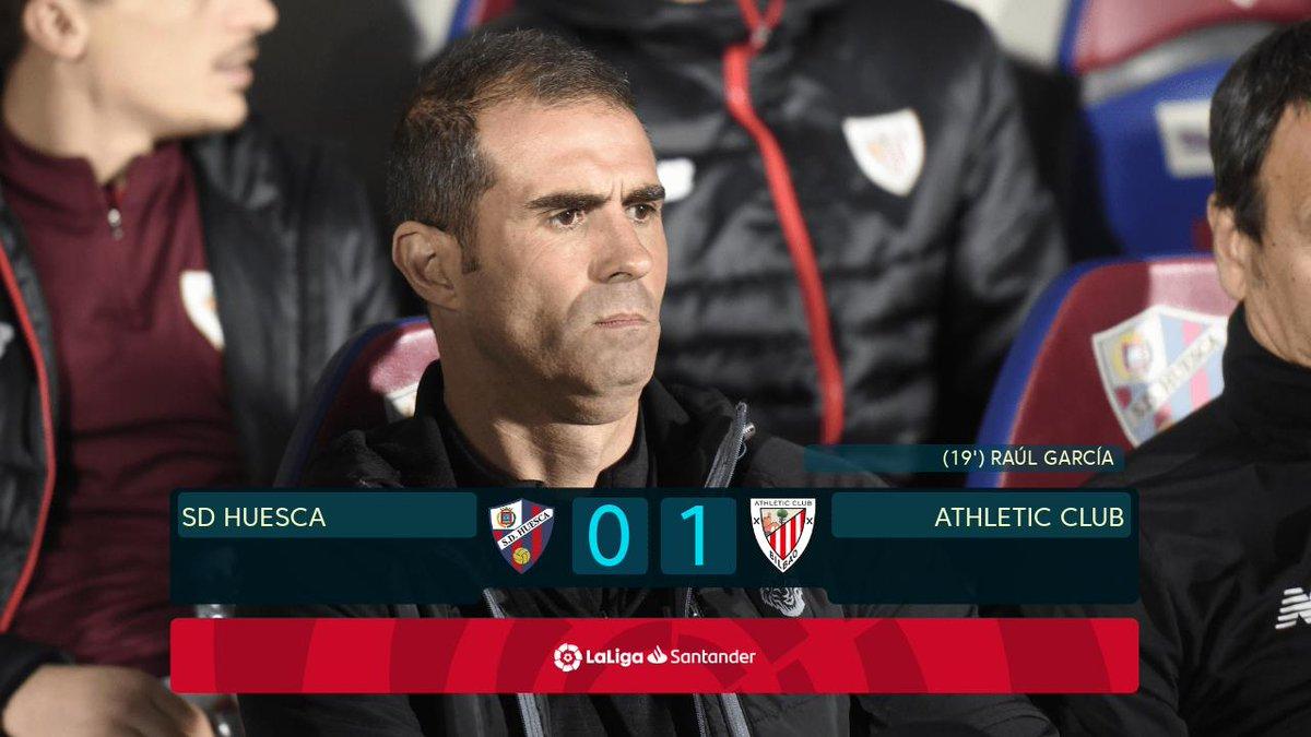 Garitano's @Athletic_en are back to winning ways in #LaLigaSantander!🦁 💪🙌  #HuescaAthletic 0-1