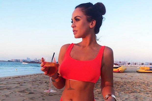 ddf0f513c6cf8 vicky pattison champions mind boggling curves in red hot bikini display