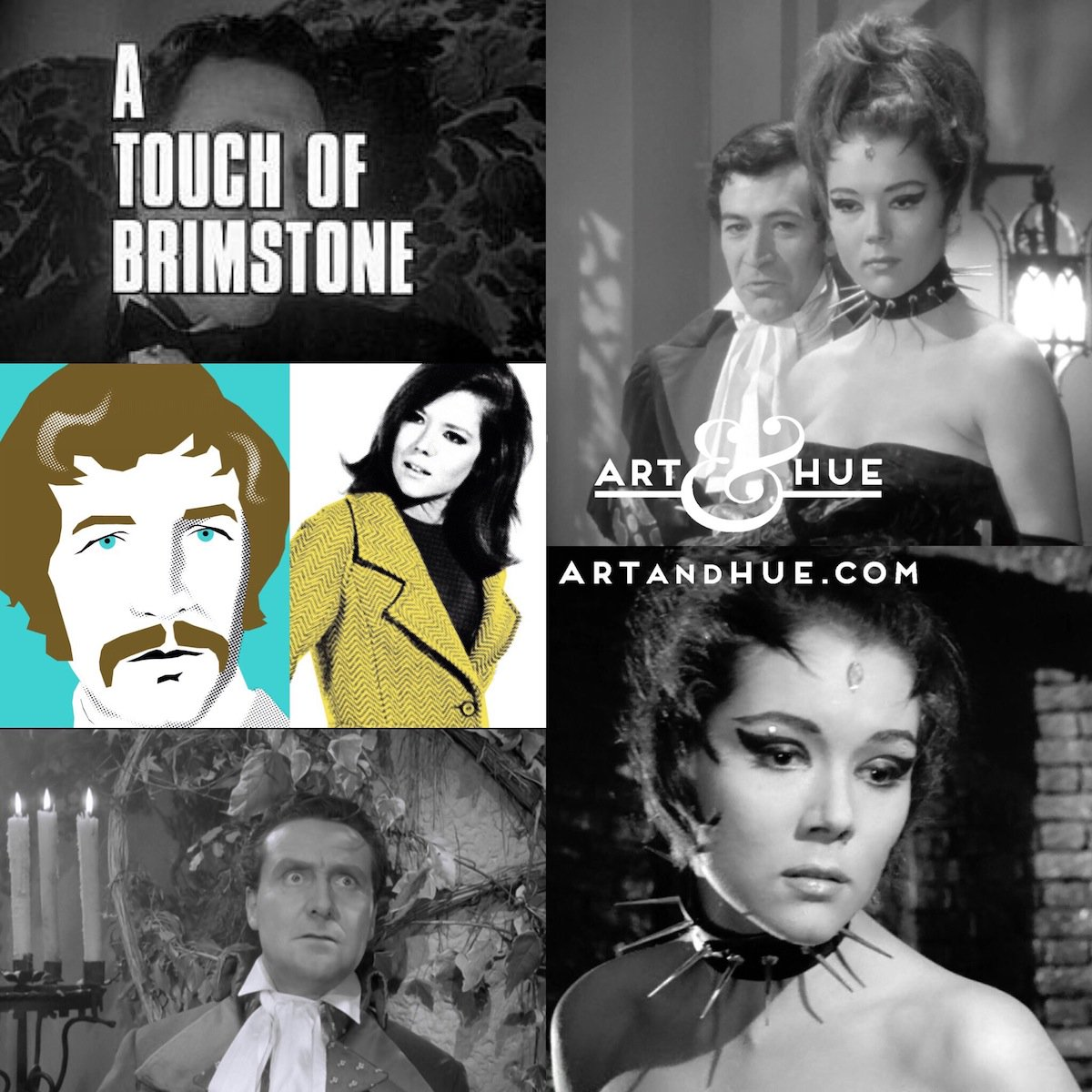 """On this day in 1966, The Avengers episode """"A Touch of Brimstone"""" aired on British TV for the first time.   http://artandhue.com/theavengers   #dianarigg #mrspeel #patrickmacnee #johnsteed #MadeAtElstree #OnThisDay #OTD #TheAvengers #ATouchofBrimstone #PeterWyngarde"""