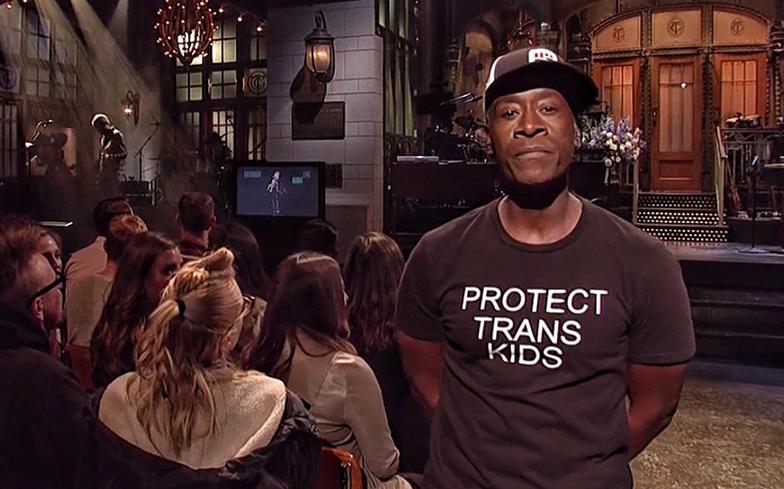 Avengers star Don Cheadle praised for wearing 'Protect Trans Kids' t-shirt on SNL.  https://t.co/tY97TbBsmM