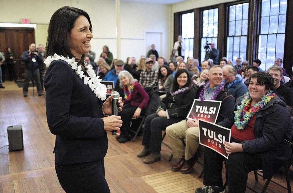 Rep. @TulsiGabbard was in New Hampshire over the weekend. View more photos from her visit in our photo gallery: http://bit.ly/2TVlleX #Election2020