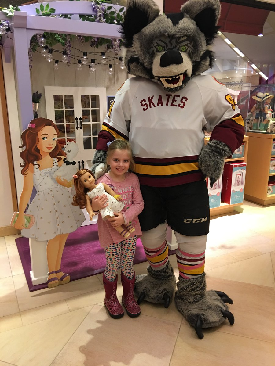 Skates had a blast hanging out at the @American_Girl store today in preparation for our American Girl Night on March 9!  Don't miss out>> http://bit.ly/CWAmericanGirlNight…