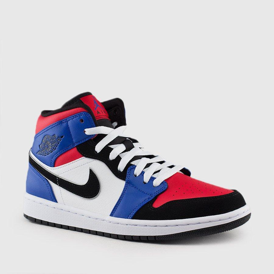air jordan 1 mid blue red white
