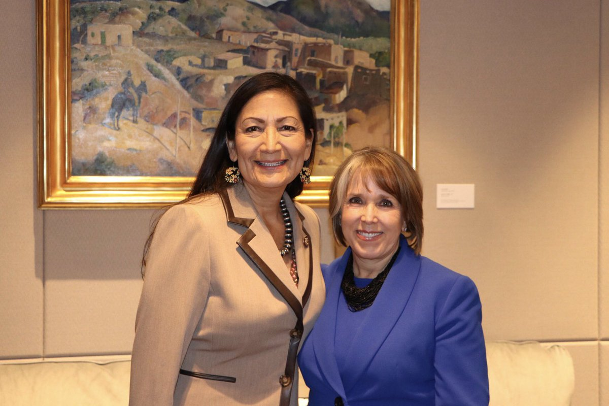 It was great to meet with @RepDebHaaland today – I'm excited about working together to address climate change across the state and building a sustainable New Mexico