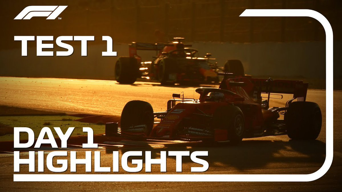 Day 1 = DONE ✅  Watch all the best bits as @ScuderiaFerrari and @McLarenF1 played the starring roles at #F1Testing in Barcelona 🇪🇸 🎥  #F1
