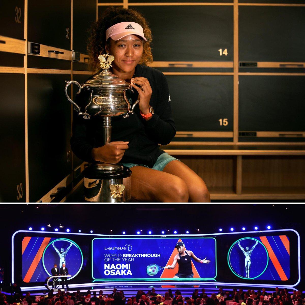 Breakthrough of the Year 🙌   Congratulations @Naomi_Osaka_ on your first @LaureusSport award. #AusOpen #Laureus19