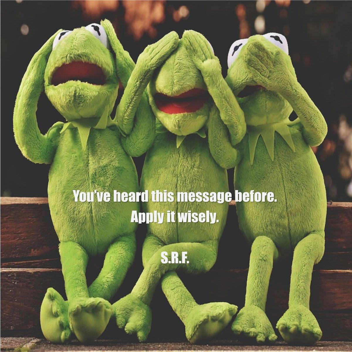 Thanks for the reminder, Kermit. ~ S.R.F. #letstalkaboutfaith https://faithishowwelive.blogspot.com/2019/…/use-wisdom.html