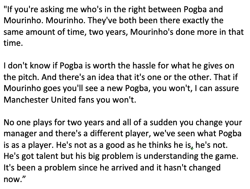 I hope @GNev2 or someone reminds @Carra23 of his poor take on Pogba from a couple of months ago.