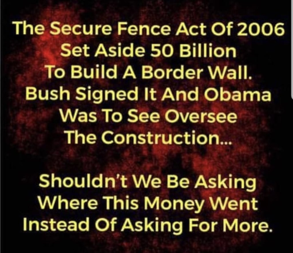 There would never have been a need if @TheDemocrats and @BarackObama would have done their job Where is the 50B set aside #FundTheWall and #BuildTheWall @realDonaldTrump is Keeping the promises that you all made in 2006 and #WeThePeople have @POTUS back #SecureTheBorder