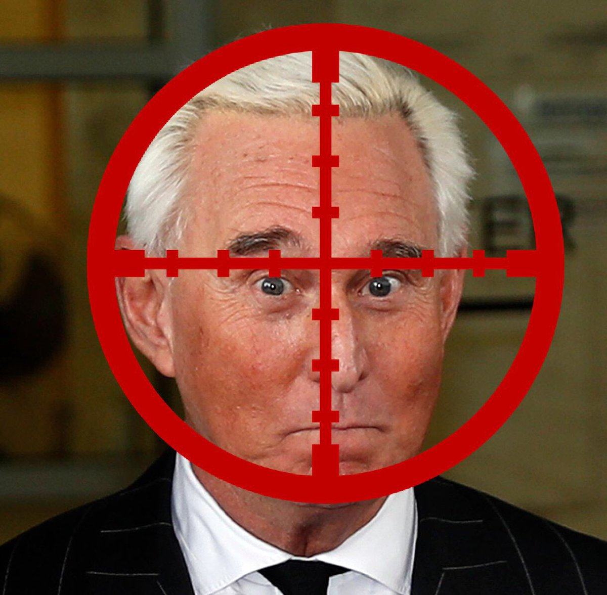 Muller has you in his sights. Asshole. #RogerStone #LockHimUp <br>http://pic.twitter.com/hzZD2XbstZ