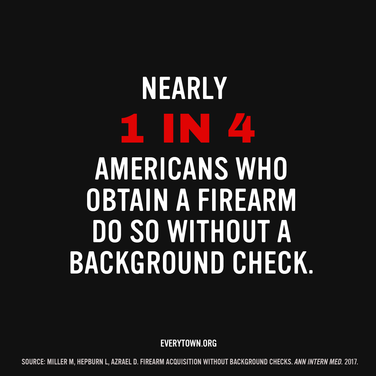 Requiring background checks on all gun sales is essential to reducing gun violence – not just those sold in brick and mortar stores, but those sold online or at gun shows.   Tell your member of Congress to #UpdateBackgroundChecks: Text CHECKS to 644-33 and we'll connect you.