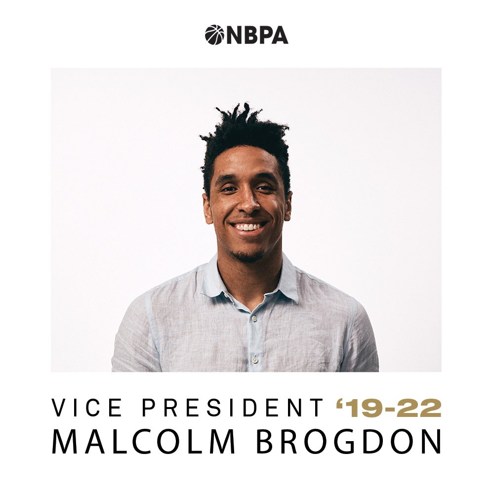 The Prez is now @TheNBPA Vice President!!  Previously serving as Player Representative, Malcolm Brogdon was elected as a Vice President and will serve a 3-year term on the NBPA Executive Committee.